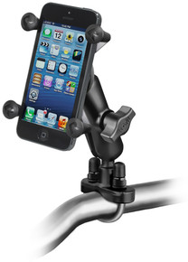 RAM Motorcycle Bike Handlebar Rail Mount and Universal X-Grip™ Cell Phone Holder