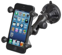 RAM Suction Cup Car Mount with Universal X-Grip™ Cell Phone Holder iPhone 5 & 4S