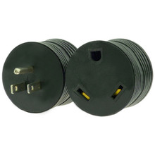 RV Electrical Adapter Plug 15 AMP Male to 30 AMP Female - for Motorhome, Camper