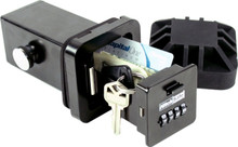 "Hitch Safe 2"" Trailer Hitch Receiver Combination Key Storage Lock Box / Key Safe"