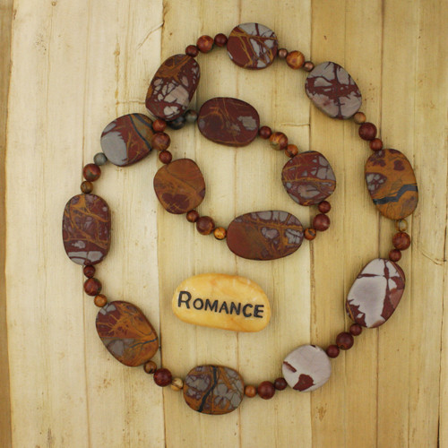 Bamboo View - Matte Red Creek Jasper Necklace (1317)