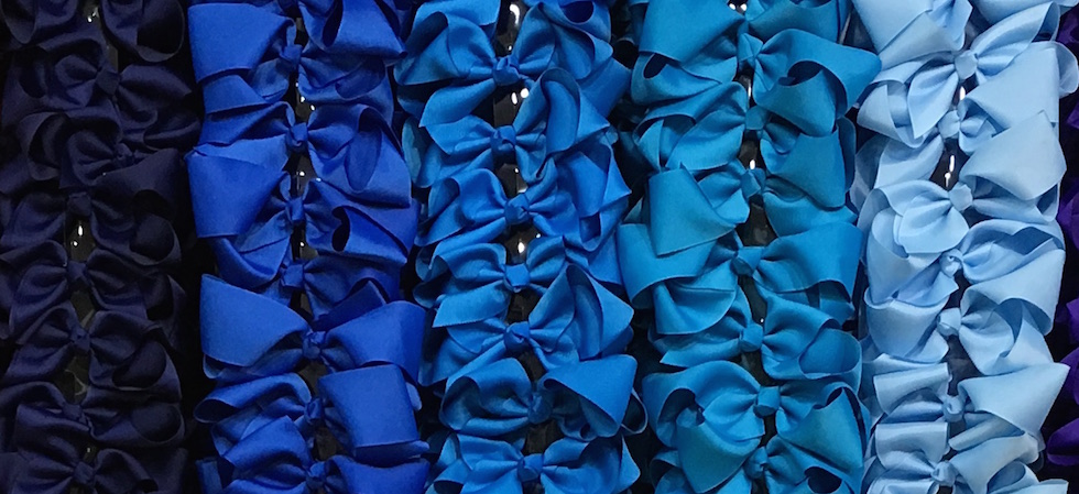 Blue Tone Assorted 6 Inch Bows
