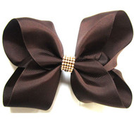 CLIP BOW BROWN