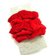 (QSRE2523) VELVET SCRUNCHIE 5PCS/CD