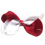 CLIP BOW WHITE + RED