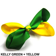 CLIP BOW GREEN + YELLOW