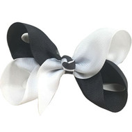 CLIP BOW WHITE + CHARCOAL