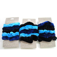 (QSBL2523) VELVET SCRUNCHIE 5PCS/CD