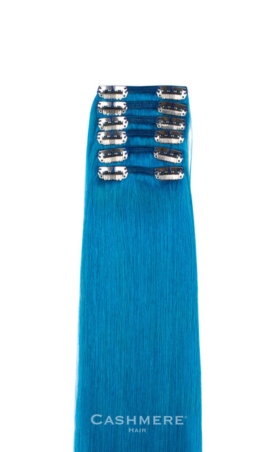 18 peek a boo turquoise clip in hair extensions turquoise cashmere hair colors clip in extensions pmusecretfo Images