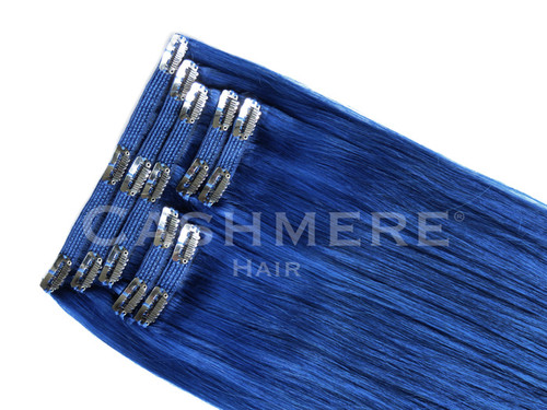 Blue clip in hair extensions cashmere hair extensions blue cashmere hair colors clip in extensions pmusecretfo Choice Image