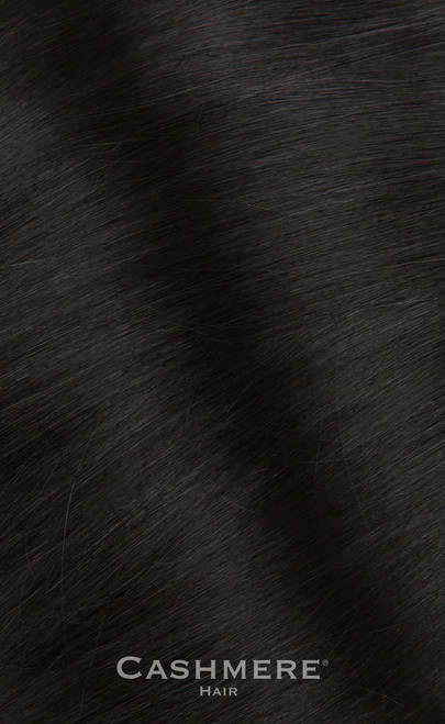 Pure Black 20 Inch Wrap Ponytail. Real Human Remy Hair.