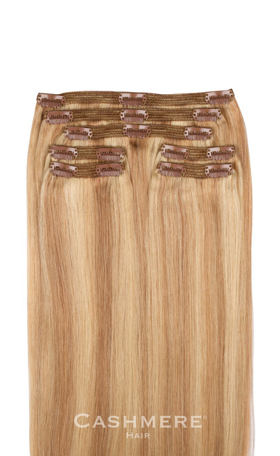 Sunset blonde 20 clip in hair extensions cashmere hair sunset blonde cashmere hair clip in hair extensions pmusecretfo Images