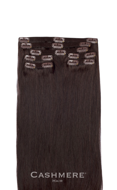 Dark brown clip in hair extensions cashmere hair dark brown clip in hair extensions pmusecretfo Choice Image