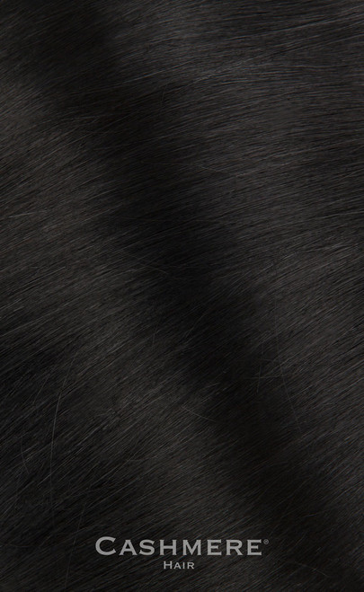 Pure Black Clip In Hair Extensions