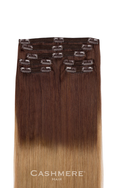 Ombre clip in hair extensions ombre cashmere hair clip in extensions pmusecretfo Choice Image