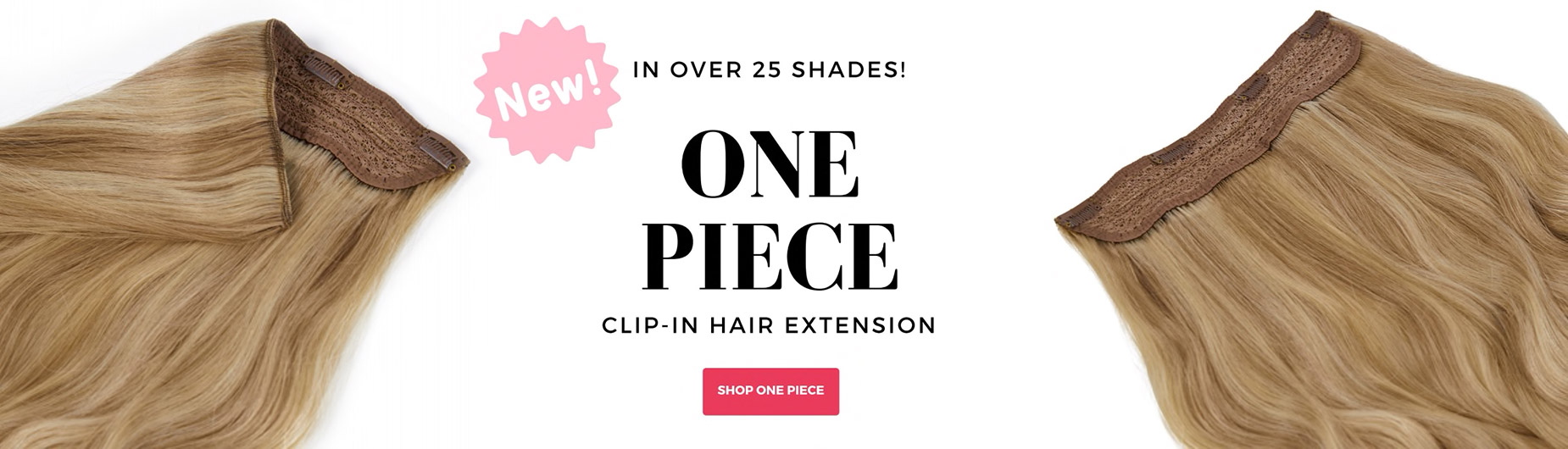 Shop for One Piece weft clip in hair extensions, halo style.