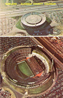 Oakland-Alameda County Coliseum & Oakland Coliseum Arena (38925-C yellow title)