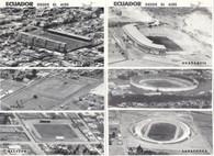 6 Ecuador Stadium Postcards (GRB-595 thru GRB-600)