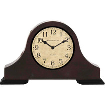 Wood Desk Clock Hidden Camera w/ DVR & 90-Day Battery
