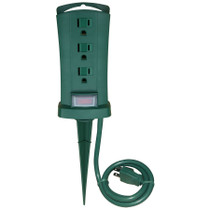 AC Powered Outdoor Power Outlet Receptacle Yard Post Hidden Camera