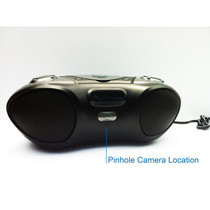 Boombox Hidden Camera w/ Night Vision & WiFi Remote View