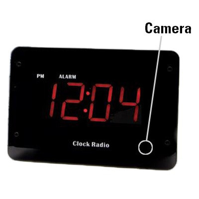 clock radio hidden camera w night vision wifi live viewing spyassoci. Black Bedroom Furniture Sets. Home Design Ideas