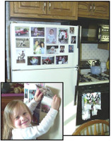 A child can create their own personal photo gallery in seconds.