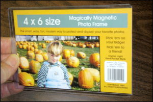 Magnetic Happy Snaps, Hard Pocket Magnetic Photo frames