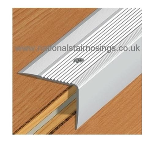 Aluminium Stair Edge Nosing For Laminate,Wood,Carpet,Tile   55x44mm  2.5