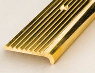 30x6mm Solid Polished Brass Stair Edging-2.5m
