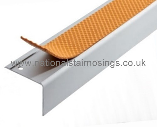 ... Exterior/Interior Anti Slip Square Stair Nosing Ramp Profile   2.5m.  Image 1