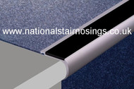 Heavy Duty Aluminium Rounded Anti Slip Stair Nosings For Carpets.