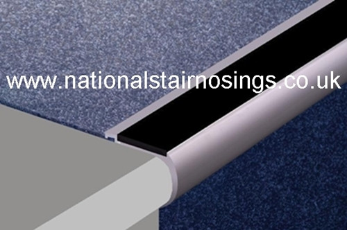 Heavy Duty Aluminium Rounded Anti Slip Stair Nosings For