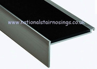 Heavy Duty Aluminium Square Anti Slip Stair Nosing For Carpets
