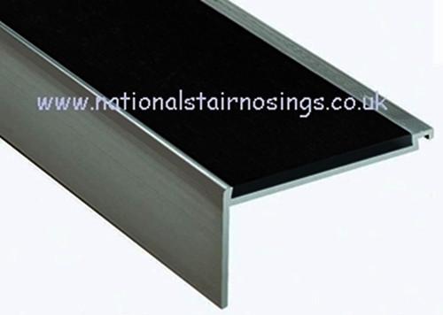 Heavy Duty Aluminium Square Anti Slip Stair Nosing For