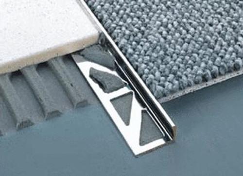 Aluminium Straight Edge Tile Trim 2 5m National Stair