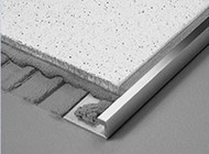 Aluminium 5mil Wide Straight Edge Tile Trim - 2.5m