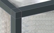 PVC Square Edge Tile Trims - 2.5m