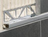 Aluminium Rectangular Box Edge Tile Trim - 2.5m