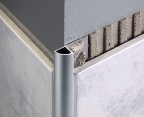 Aluminium Quadrant Corner Edge Tile Trim 2 5m National