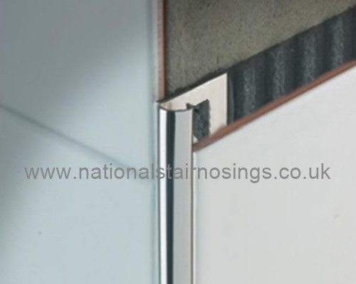 Stainless Steel Quadrant Corner Edge Tile Trim 2 5m