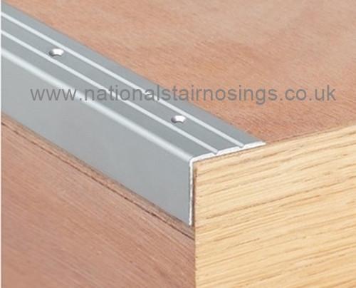 Aluminium Stair Edging,Perforated   2.7m.