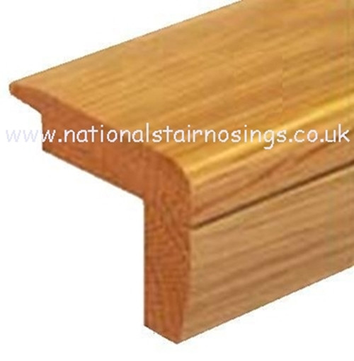 Solid Wood Hardwood Stair Step Nosing For Wooden Flooring
