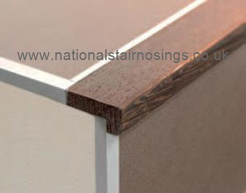 ... Wooden Stair Nosings For Ceramic Tiles,Square Type  2.5m. Image 1