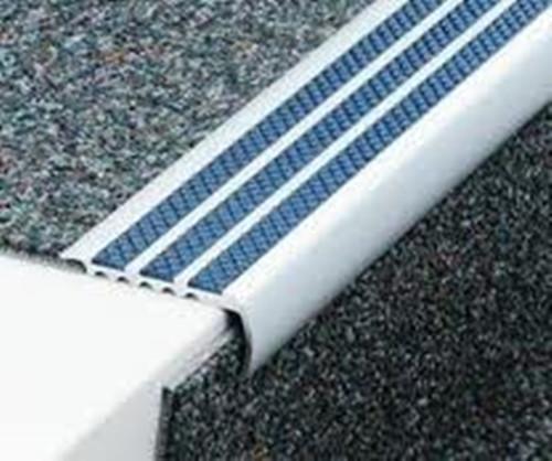 Beau ... Aluminium Bullnose Anti Slip Carpet Stair Edge Nosings   2.5m. Image 1