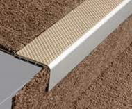 Aluminium Square Anti Slip Carpet Stair Edge Nosing - 2.5m.
