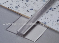 Aluminium Double Edge Jointing Trim For Thin Floor Covering-2.5m