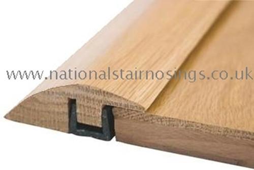Solid Wood Hardwood R& Door Bar Threshold Strip For Different Level Flooring  sc 1 st  National Stair Nosings \u0026 Floor Edgings & Threshold \u0026 Transition Strips For Laminate Tile CarpetWood Vinyl