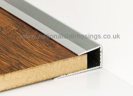 Push In Square Edge Trim Profile For Laminate & Wood- 2.7m