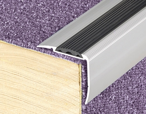 Long Riser Anti Slip Stair Nosing For Laminate Carpets